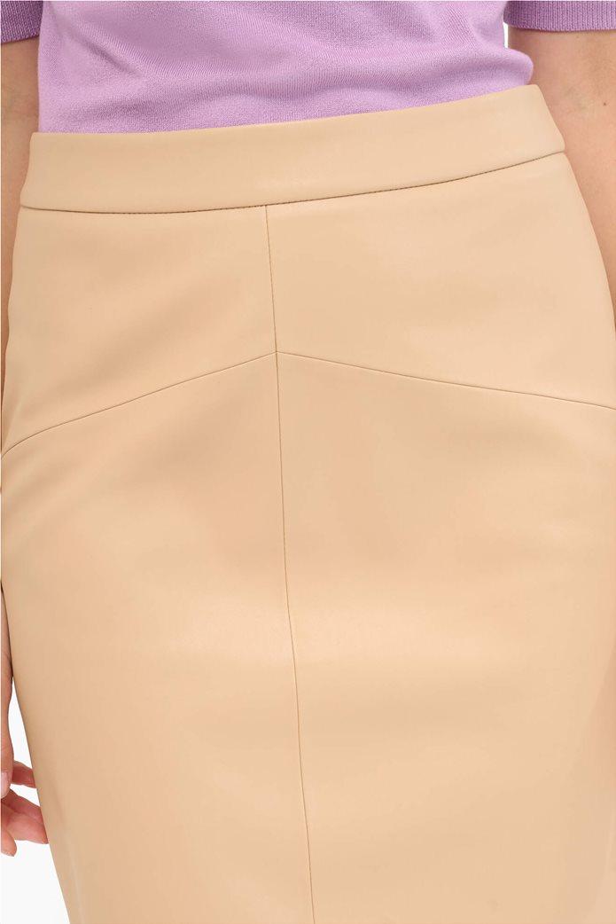 Orsay γυναικεία pencil φούστα faux-leather Μπεζ 1