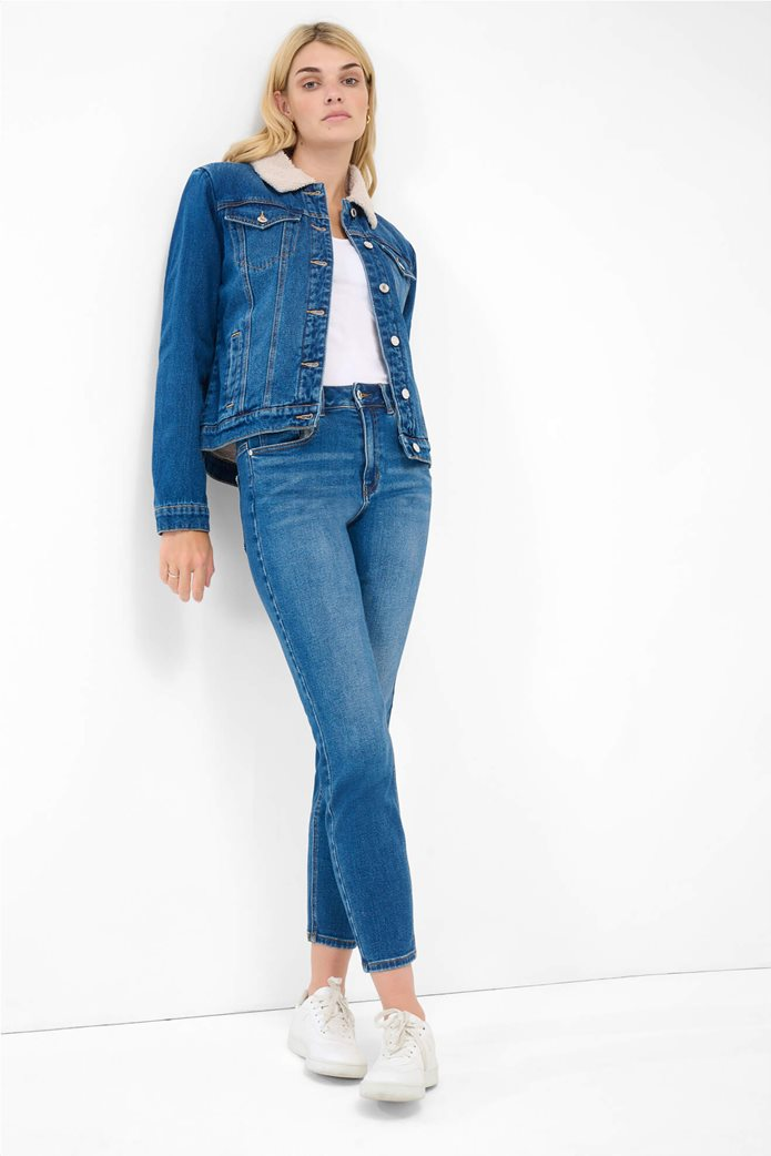 Orsay γυναικείο τζην παντελόνι ψηλόμεσο Slim Fit Μπλε 0