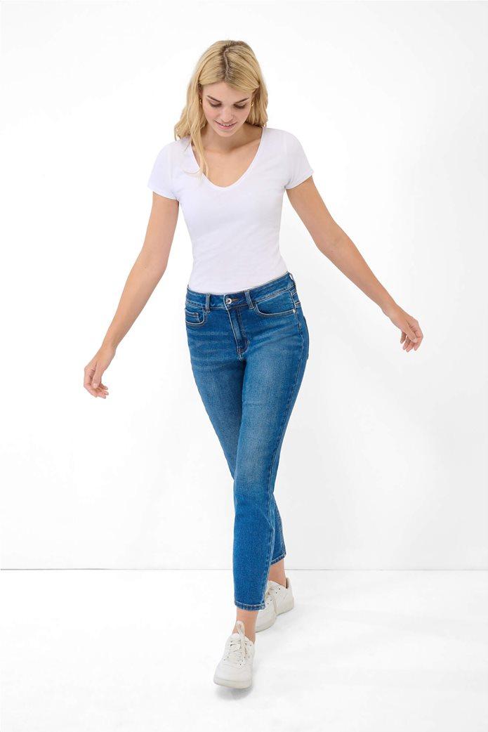 Orsay γυναικείο τζην παντελόνι ψηλόμεσο Slim Fit Μπλε 2