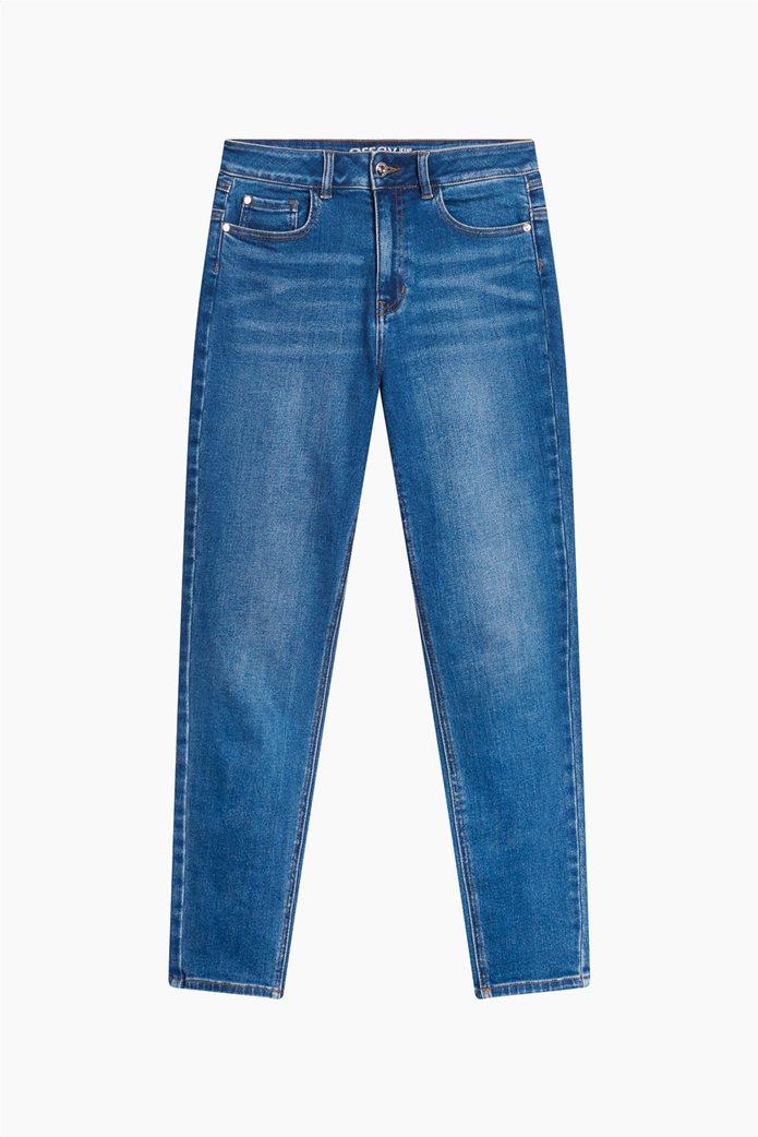 Orsay γυναικείο τζην παντελόνι ψηλόμεσο Slim Fit Μπλε 4