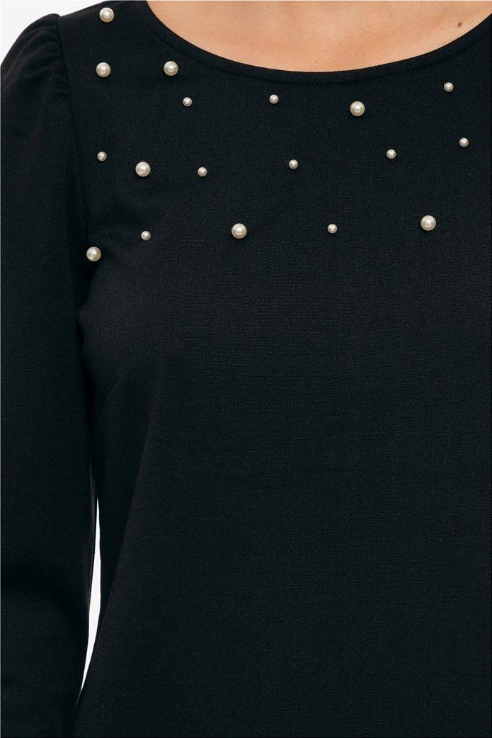 2d858b5f7010 Fransa γυναικείο ελαστικό mini φόρεμα με πέρλες 3