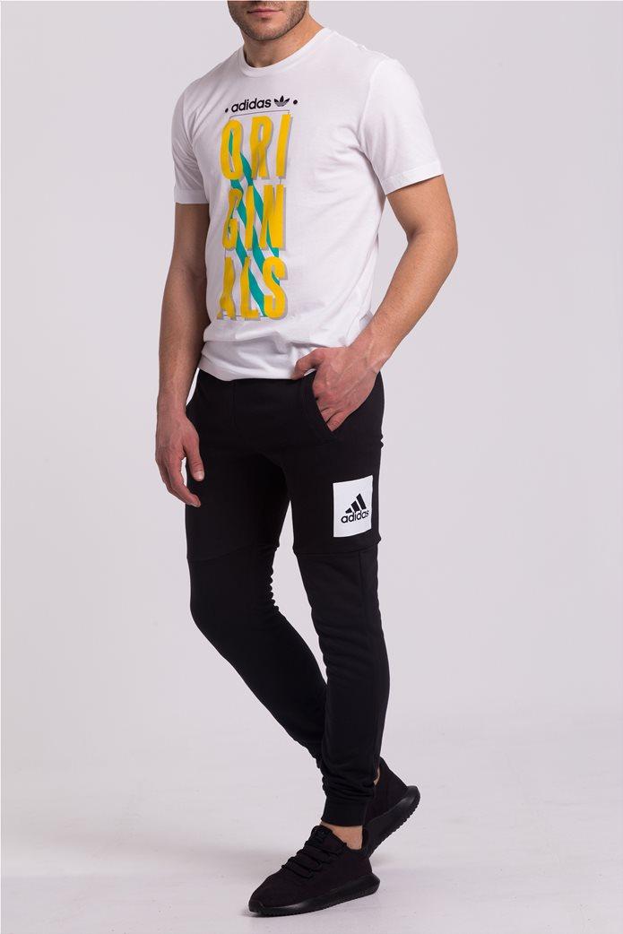 Ανδρικό μαύρο παντελόνι φόρμας Essentials Box Logo Adidas 0