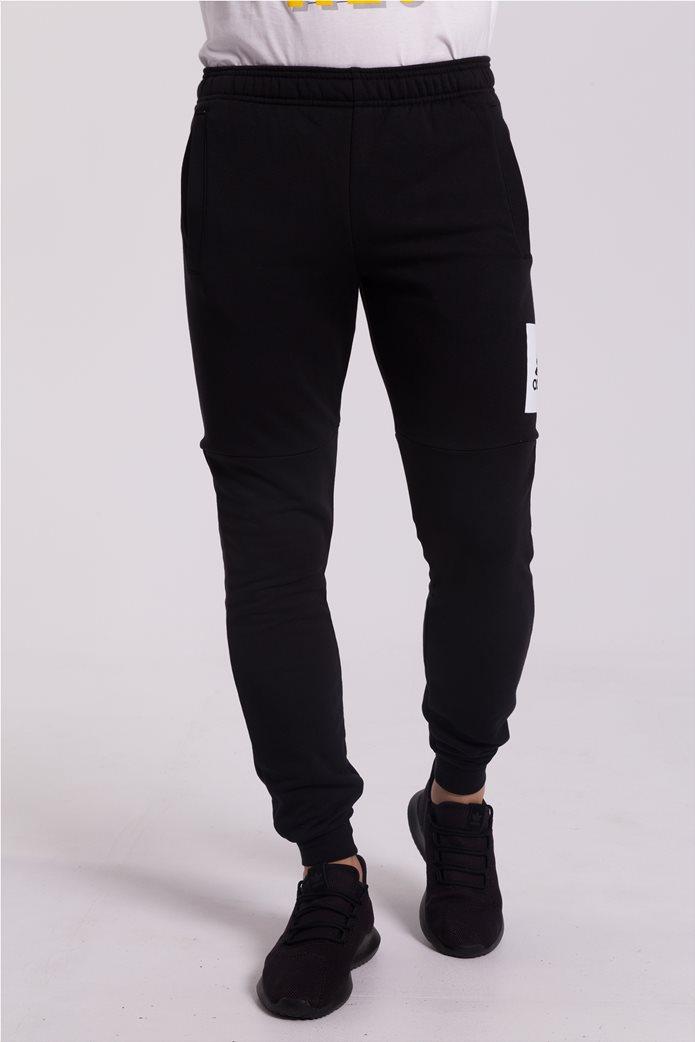 Ανδρικό μαύρο παντελόνι φόρμας Essentials Box Logo Adidas 1