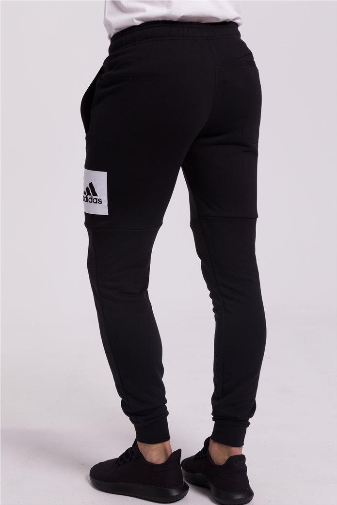 Ανδρικό μαύρο παντελόνι φόρμας Essentials Box Logo Adidas 2