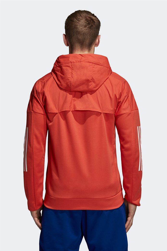 Adidas ανδρική ζακέτα ID Hybrid πορτοκαλί 1