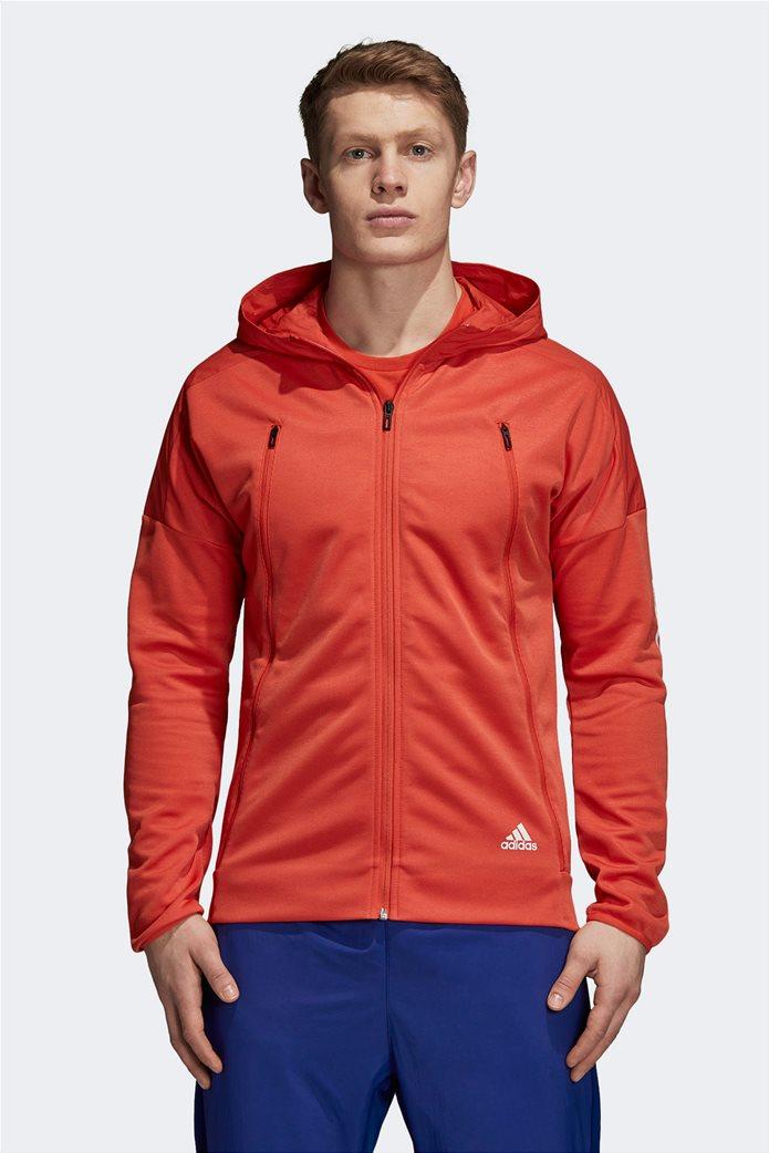 Adidas ανδρική ζακέτα ID Hybrid πορτοκαλί 0