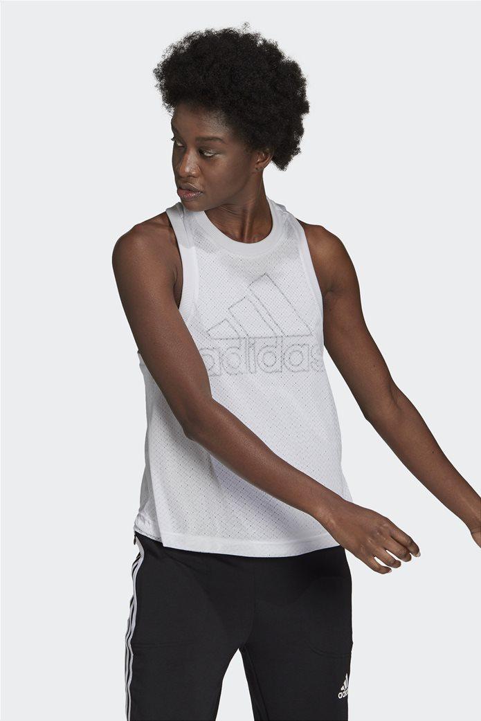 Adidas γυναικεία αμάνικη μπλούζα με διπλό mesh layer 0