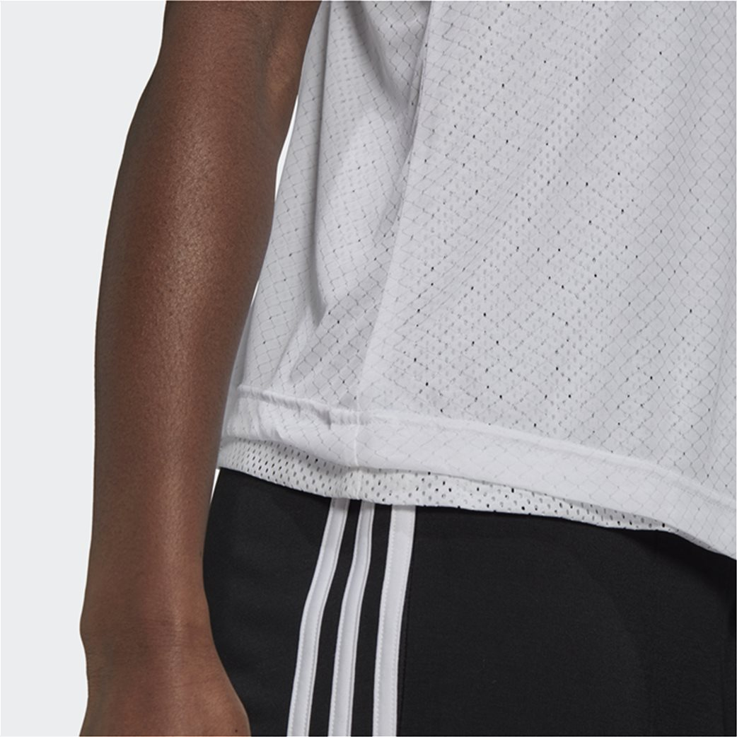 Adidas γυναικεία αμάνικη μπλούζα με διπλό mesh layer 4
