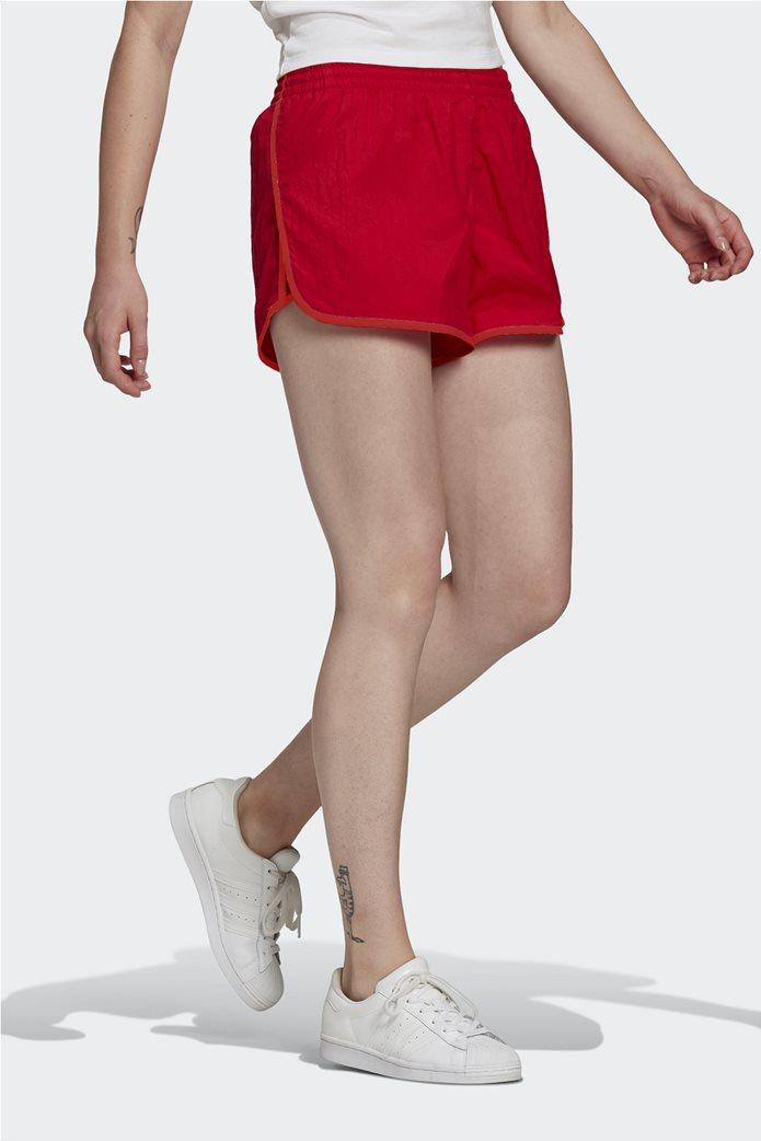 Adidas γυναικείο αθλητικό σορτς ''Adicolor Classics 3-Stripes'' Κόκκινο 1