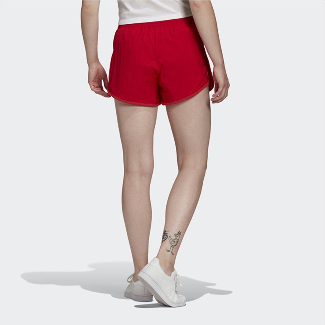 Adidas γυναικείο αθλητικό σορτς ''Adicolor Classics 3-Stripes'' Κόκκινο 2