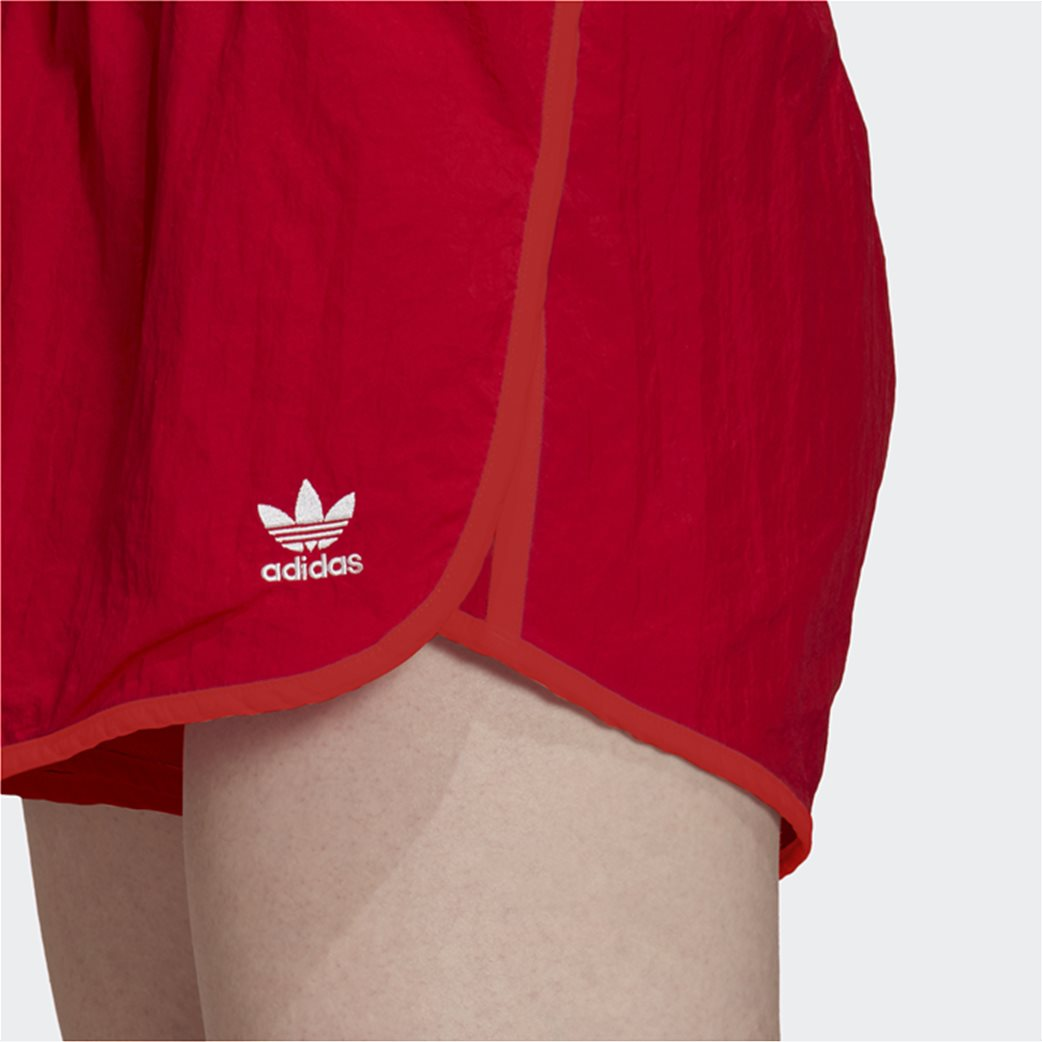 Adidas γυναικείο αθλητικό σορτς ''Adicolor Classics 3-Stripes'' Κόκκινο 3