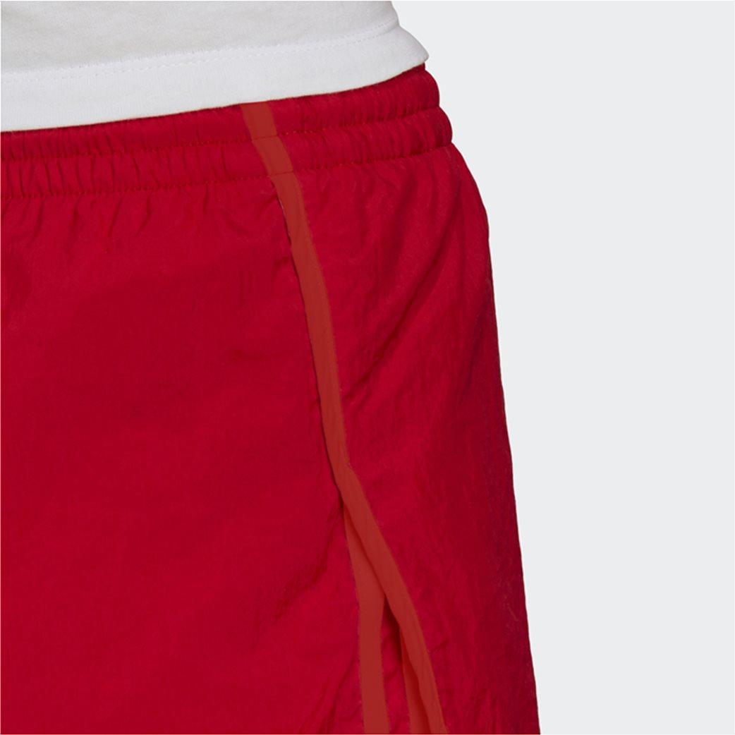 Adidas γυναικείο αθλητικό σορτς ''Adicolor Classics 3-Stripes'' Κόκκινο 4