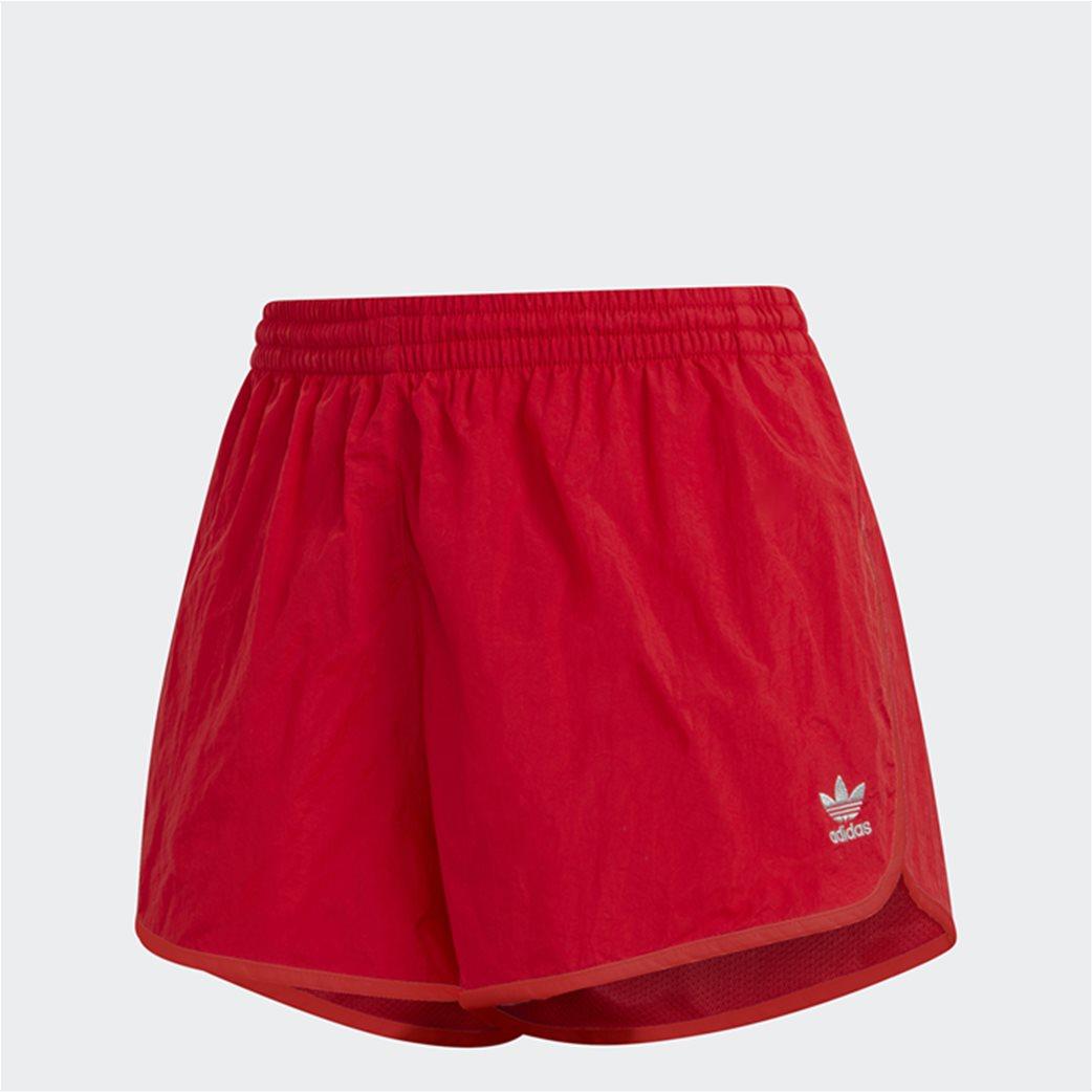 Adidas γυναικείο αθλητικό σορτς ''Adicolor Classics 3-Stripes'' Κόκκινο 5