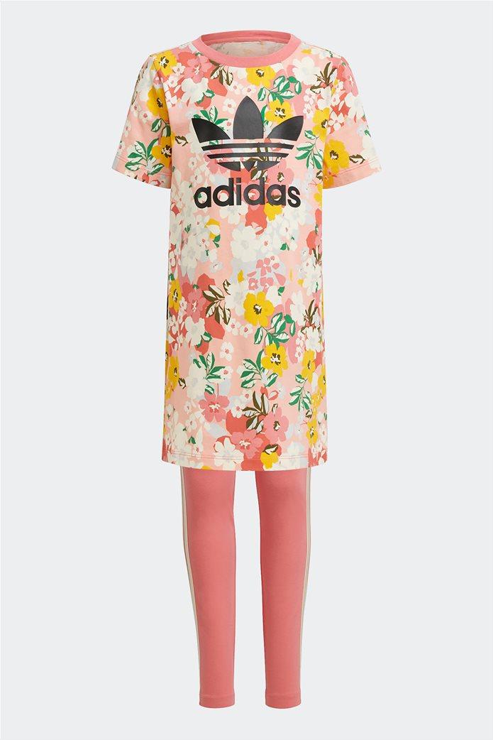 Adidas παιδικό σετ ρούχων με floral print 0