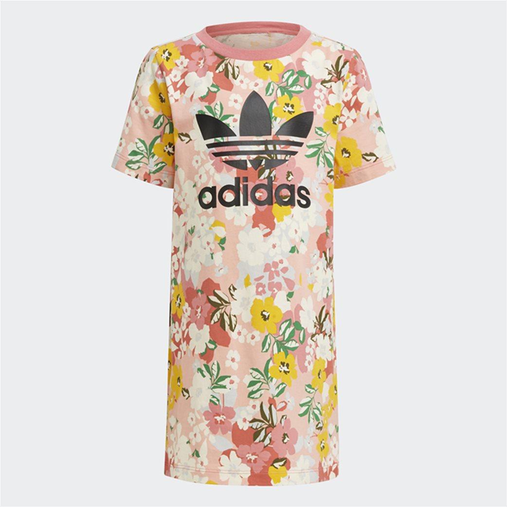 Adidas παιδικό σετ ρούχων με floral print 1