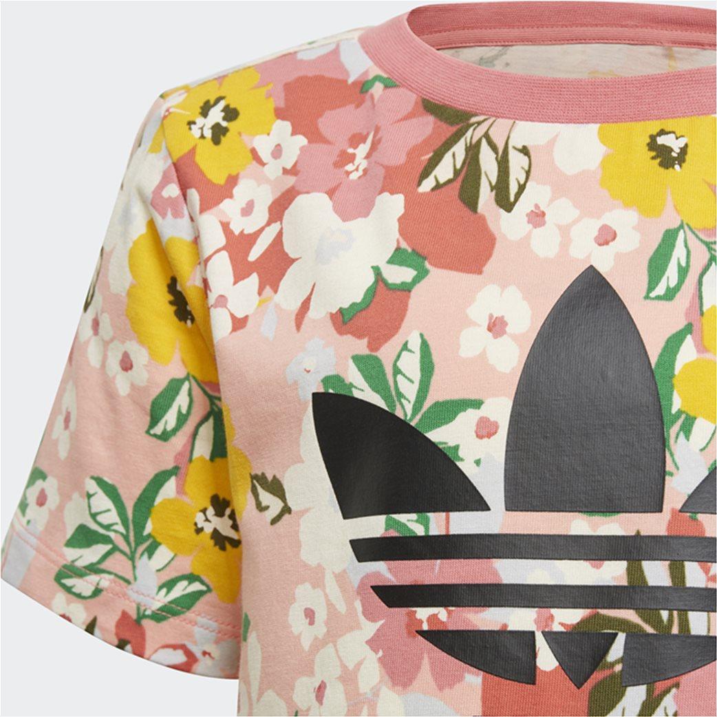 Adidas παιδικό σετ ρούχων με floral print 5