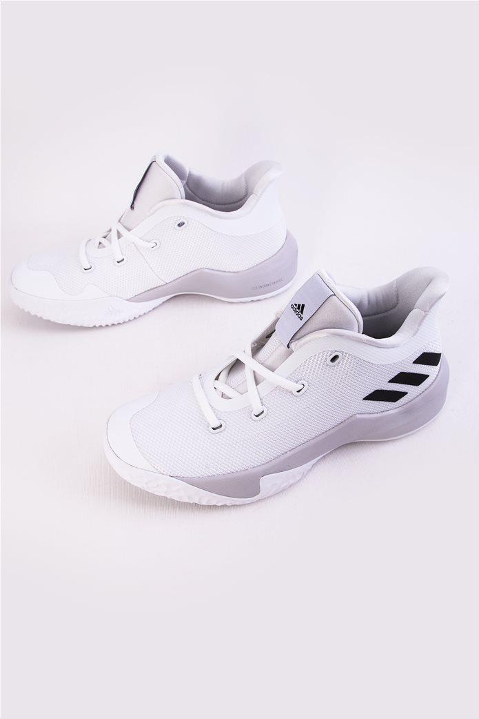 Παιδικά λευκά αθλητικά παπούτσια μπάσκετ Rise Up 2 Adidas 1