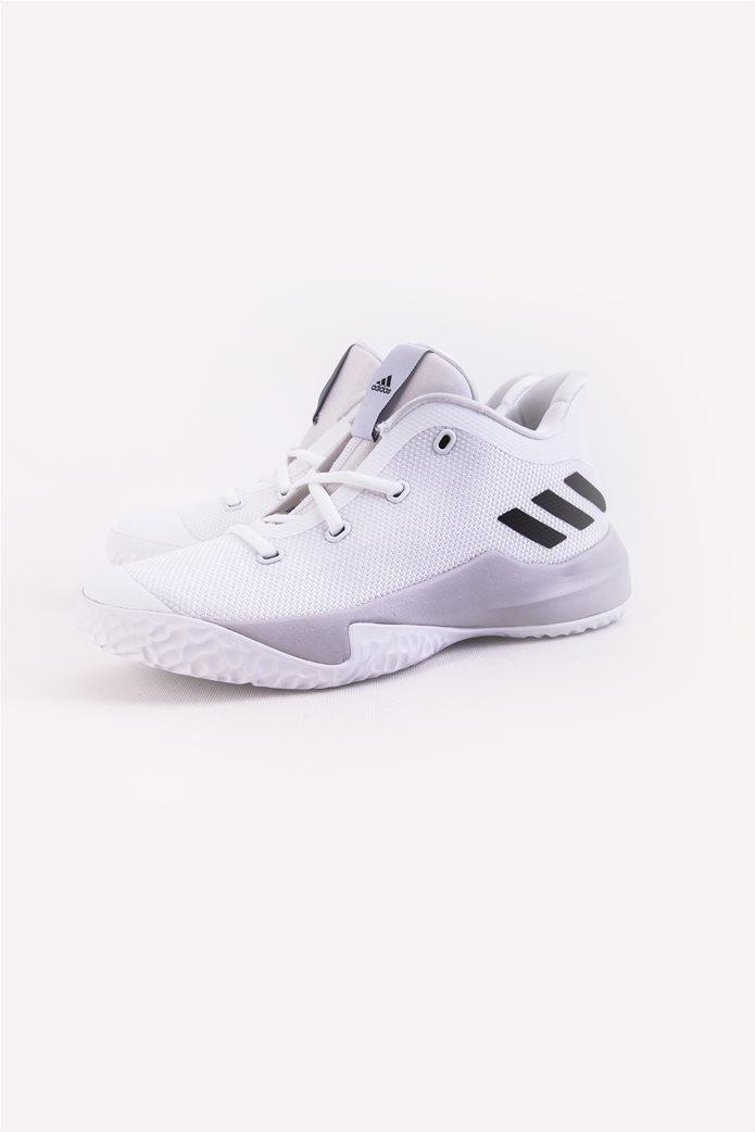 Παιδικά λευκά αθλητικά παπούτσια μπάσκετ Rise Up 2 Adidas 3