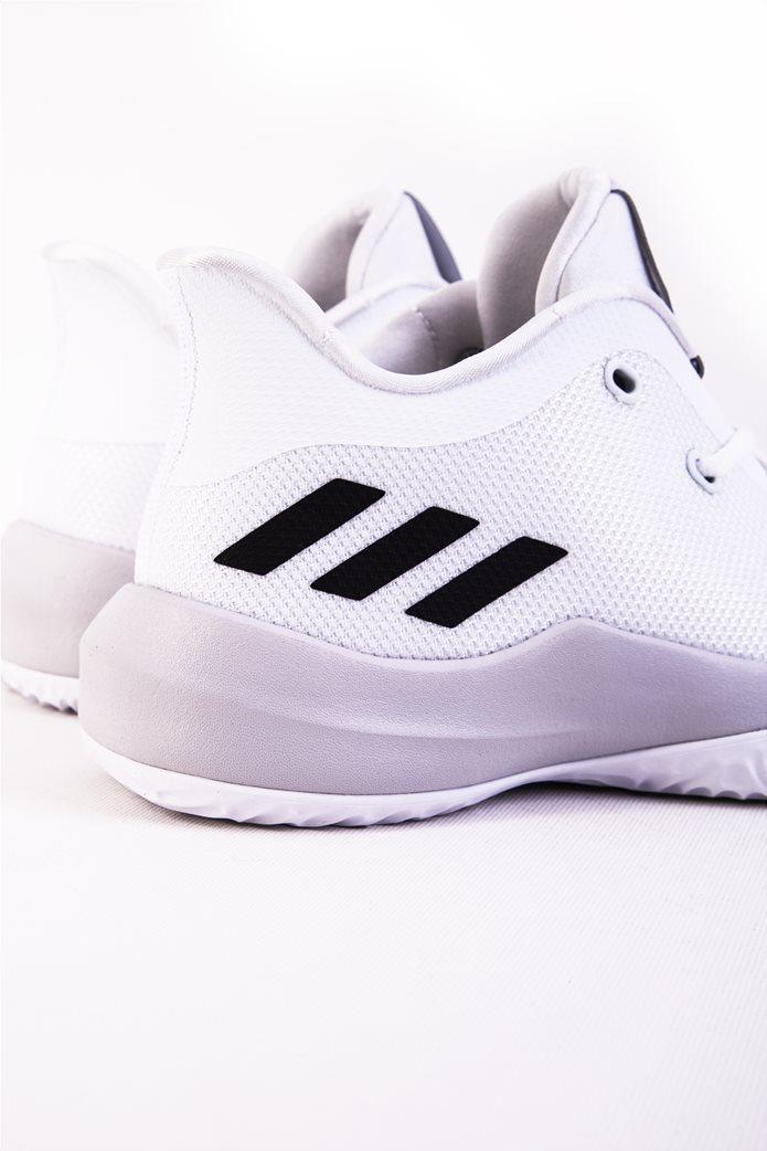 Παιδικά λευκά αθλητικά παπούτσια μπάσκετ Rise Up 2 Adidas 4