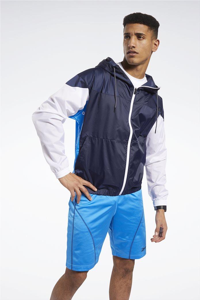 Reebok ανδρική αθλητική ζακέτα colorblocked ''MYT'' Μπλε Σκούρο 0