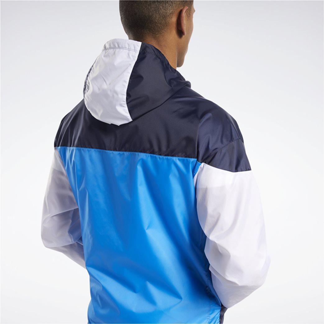 Reebok ανδρική αθλητική ζακέτα colorblocked ''MYT'' Μπλε Σκούρο 4