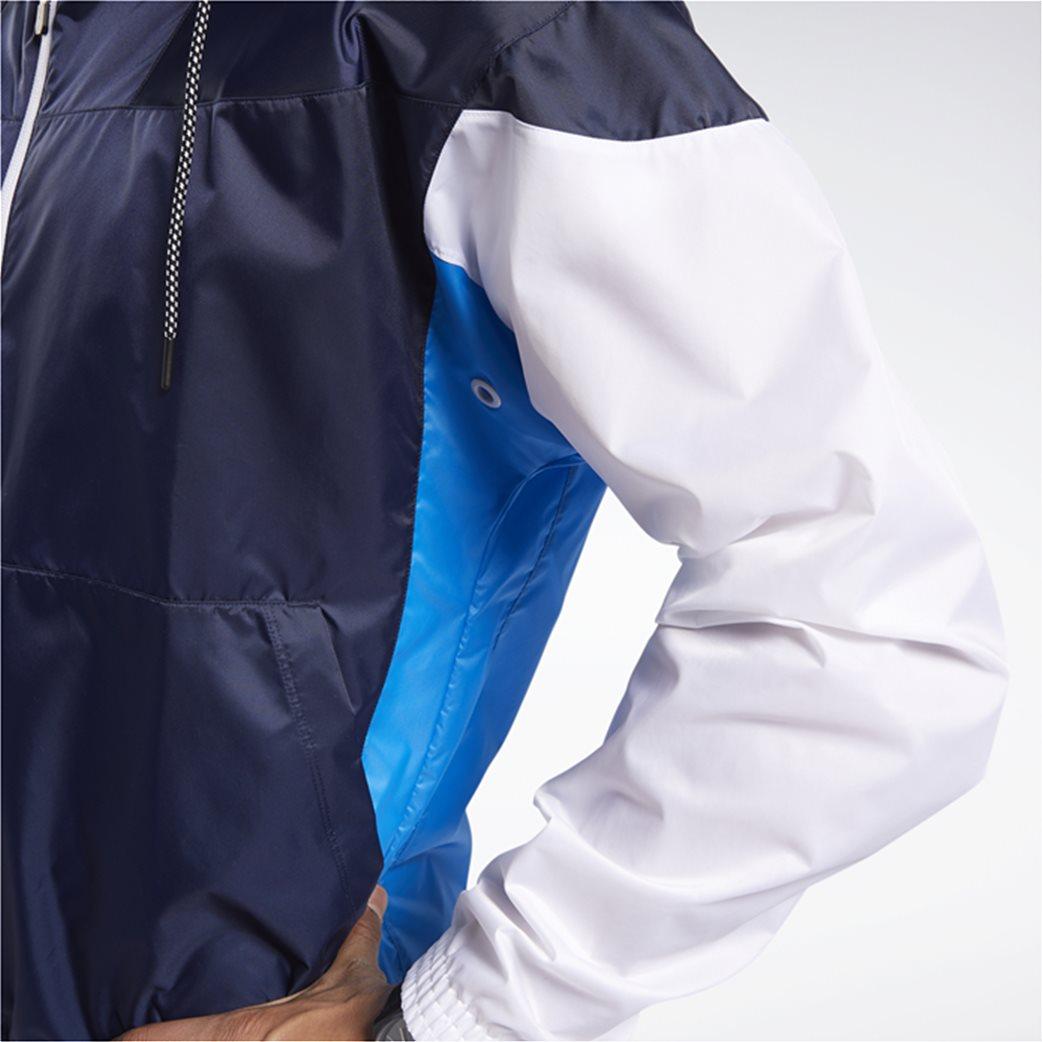 Reebok ανδρική αθλητική ζακέτα colorblocked ''MYT'' Μπλε Σκούρο 5