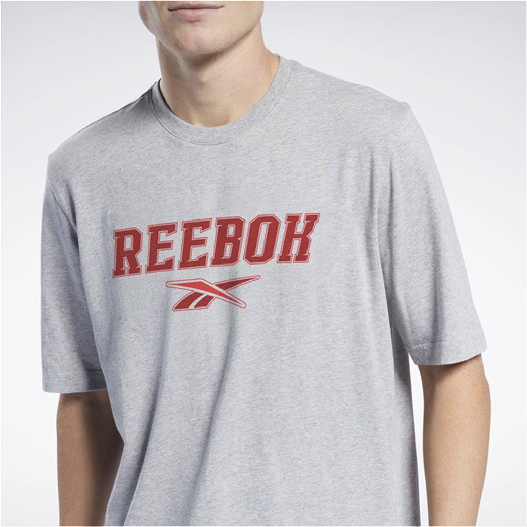 Reebok ανδρικό T-shirt με logo print Γκρι 3