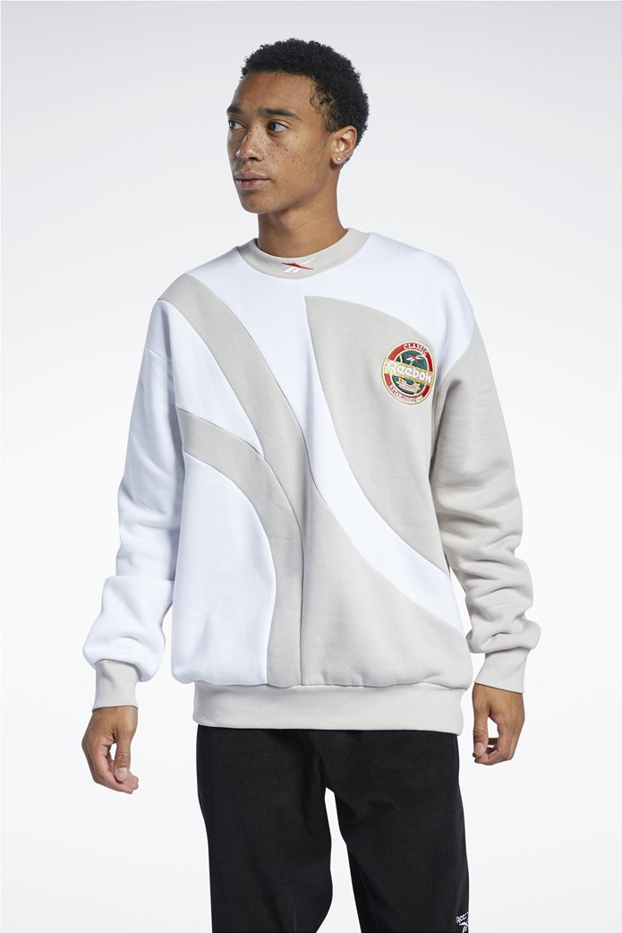 Reebok ανδρική φούτερ μπλούζα με κεντημένο λογότυπο ''Classics Vintage'' Μπεζ 0