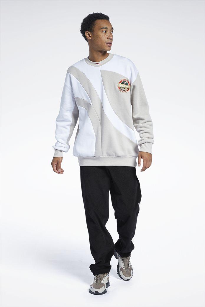 Reebok ανδρική φούτερ μπλούζα με κεντημένο λογότυπο ''Classics Vintage'' Μπεζ 1