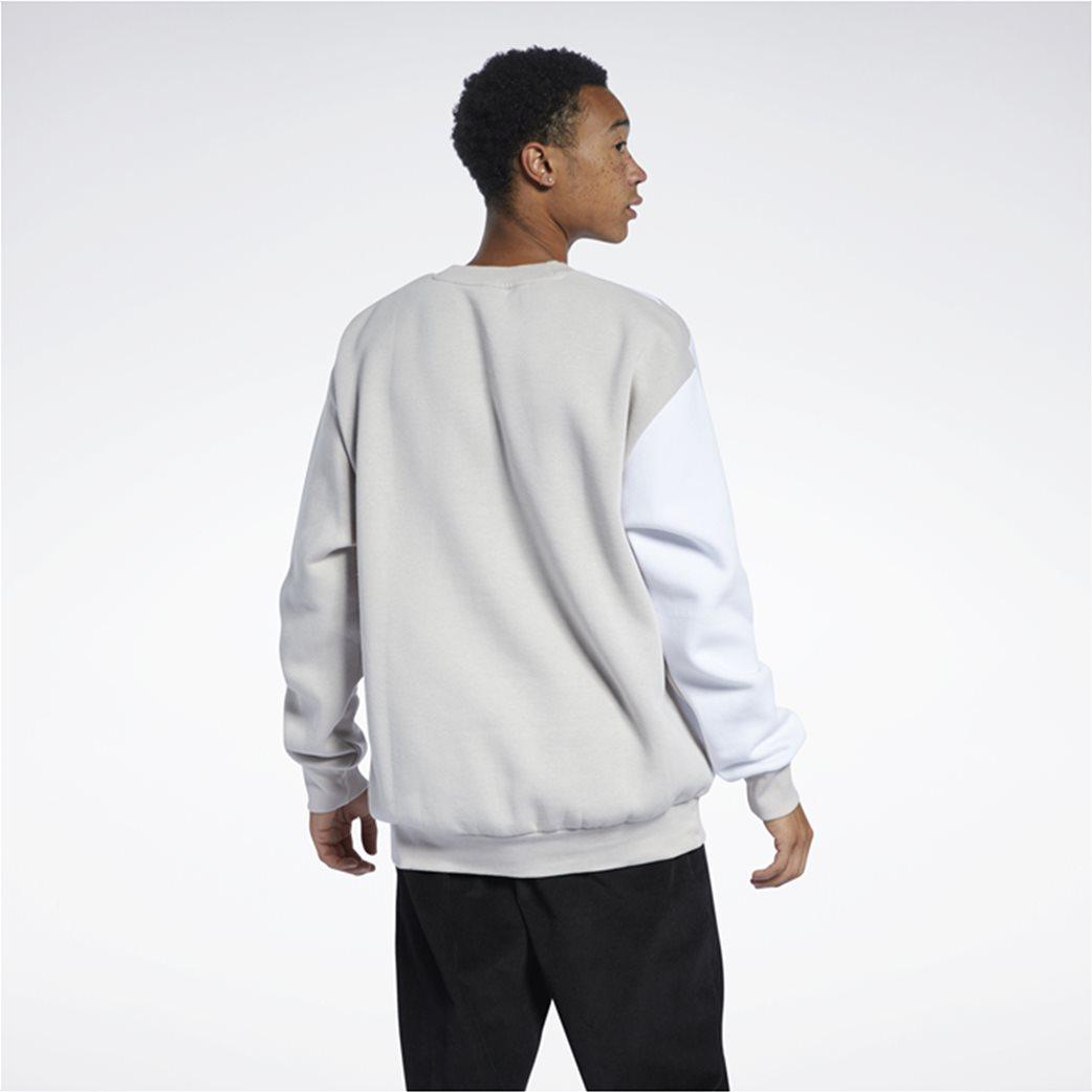 Reebok ανδρική φούτερ μπλούζα με κεντημένο λογότυπο ''Classics Vintage'' Μπεζ 2
