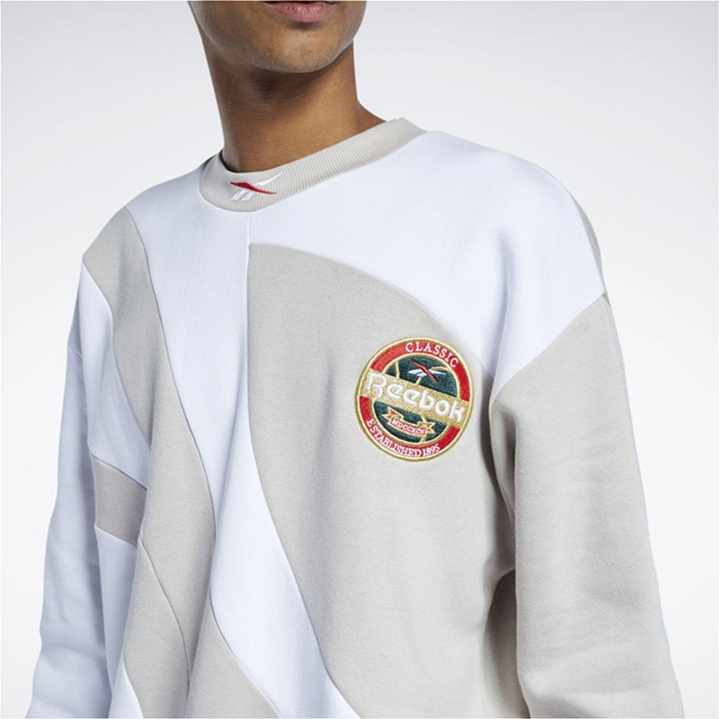 Reebok ανδρική φούτερ μπλούζα με κεντημένο λογότυπο ''Classics Vintage'' Μπεζ 3