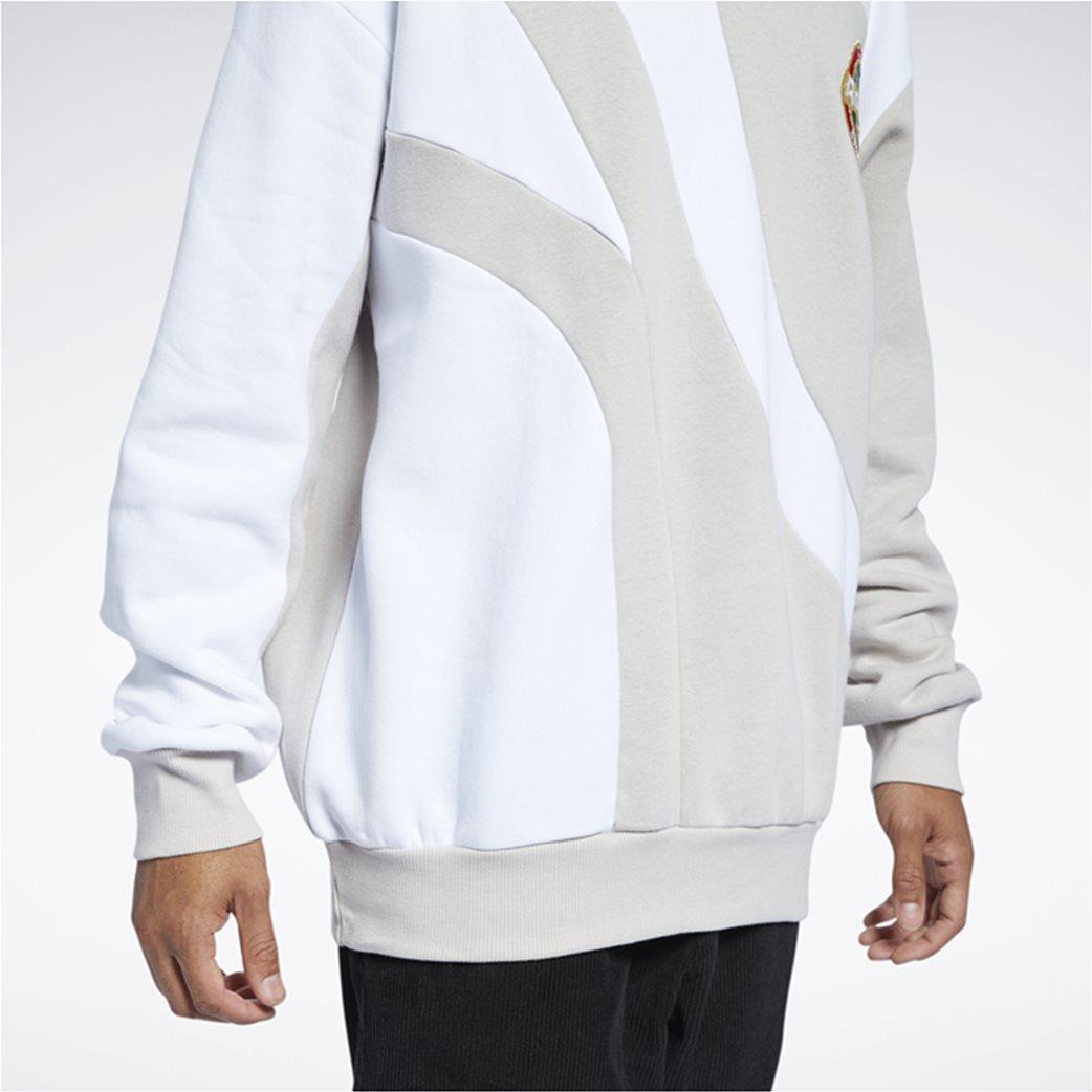 Reebok ανδρική φούτερ μπλούζα με κεντημένο λογότυπο ''Classics Vintage'' Μπεζ 4