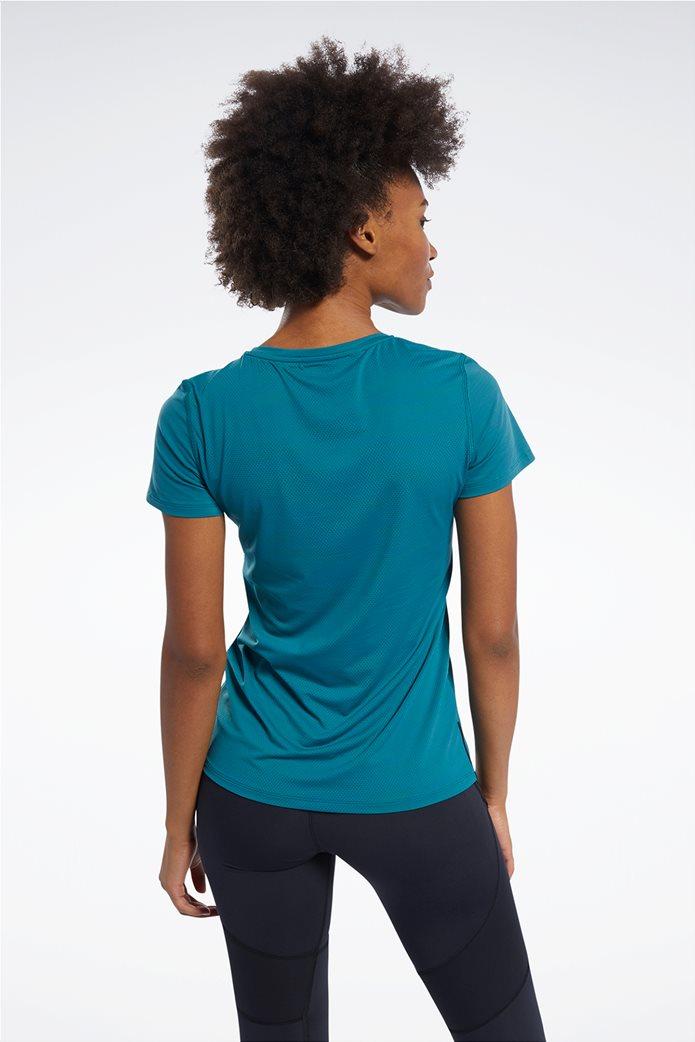 Reebok γυναικείο μονόχρωμο T-shirt με V λαιμόκομψη 1