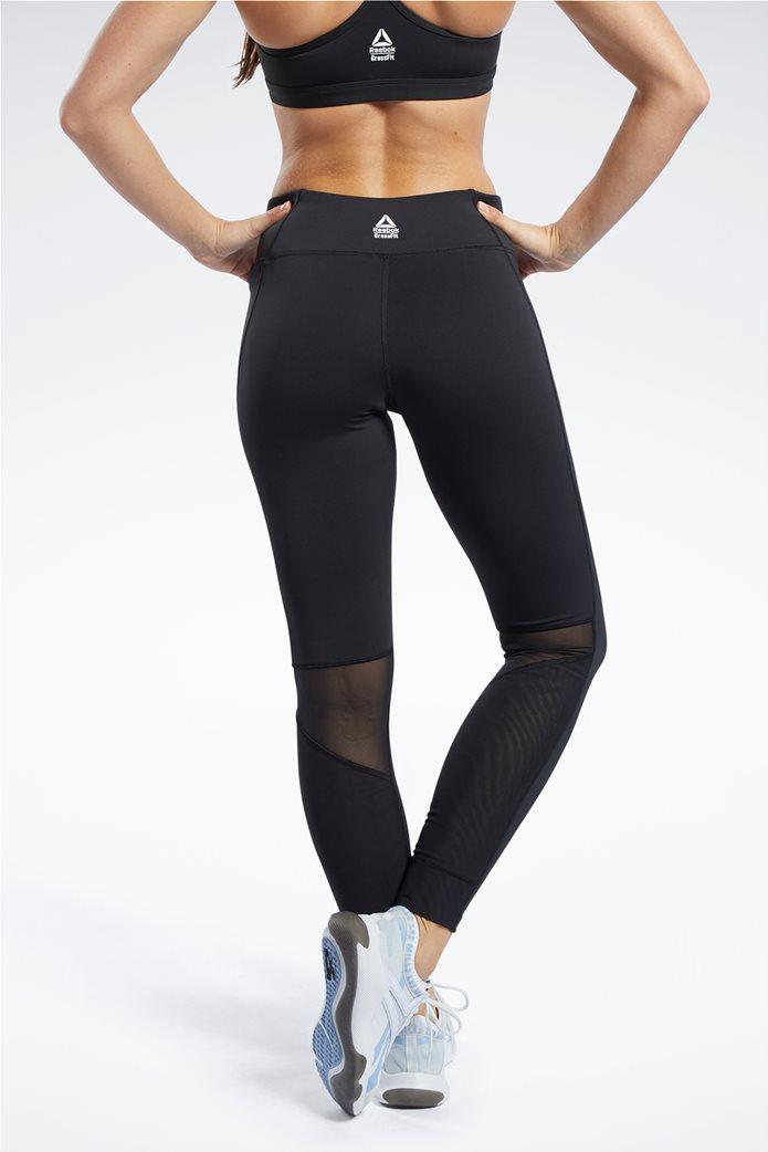 Reebok γυναικείο αθλητικό μονόχρωμο κολάν ''Crossfit® Mesh Lux'' 1