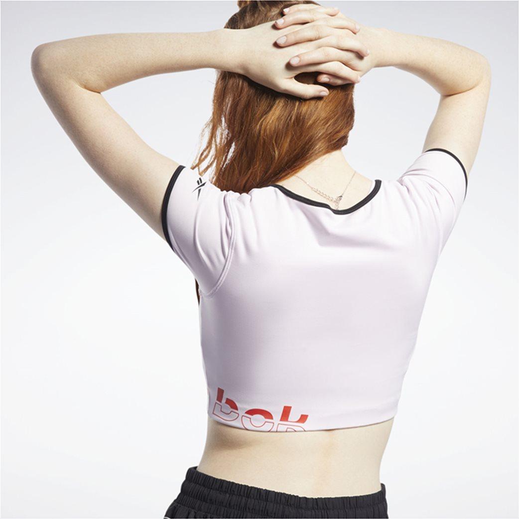 Reebok γυναικείο cropped T-Shirt με V λαιμόκομψη ''Meet You There'' 3
