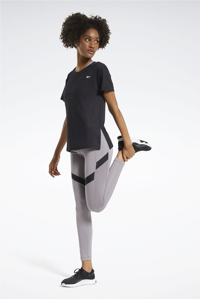 Reebok γυναικείο αθλητικό T-shirt μονόχρωμο ''Workout Ready'' Μαύρο 1
