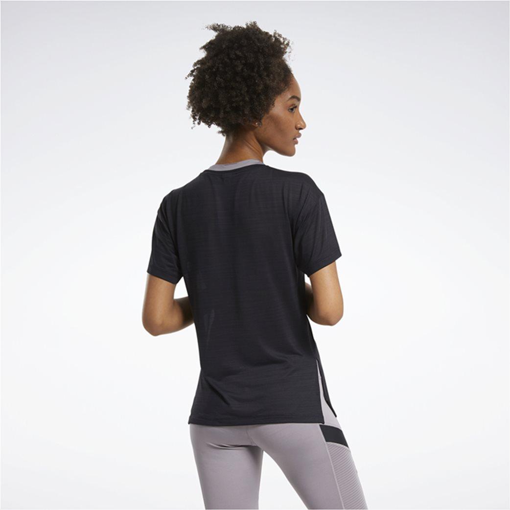 Reebok γυναικείο αθλητικό T-shirt μονόχρωμο ''Workout Ready'' Μαύρο 2