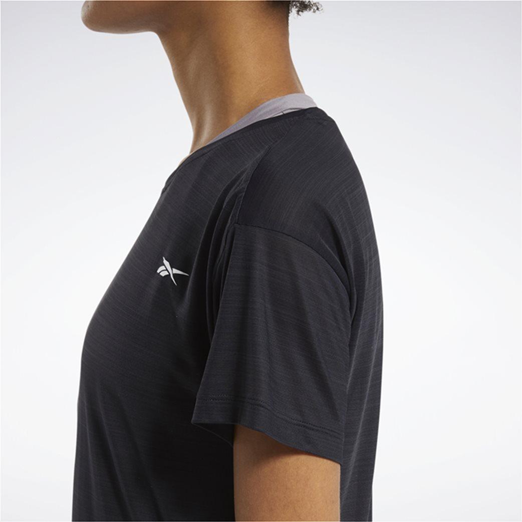 Reebok γυναικείο αθλητικό T-shirt μονόχρωμο ''Workout Ready'' Μαύρο 4