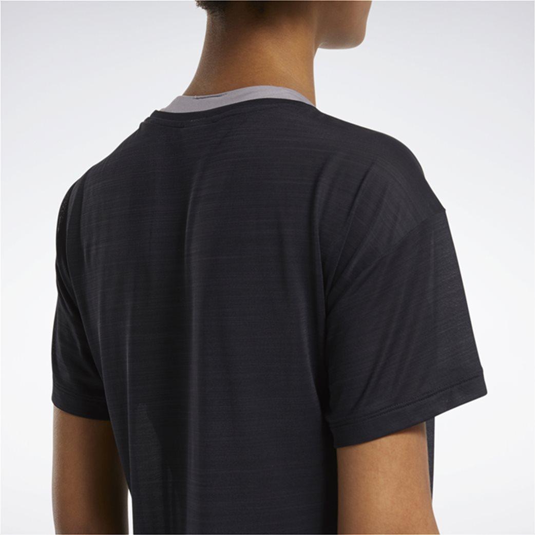 Reebok γυναικείο αθλητικό T-shirt μονόχρωμο ''Workout Ready'' Μαύρο 5