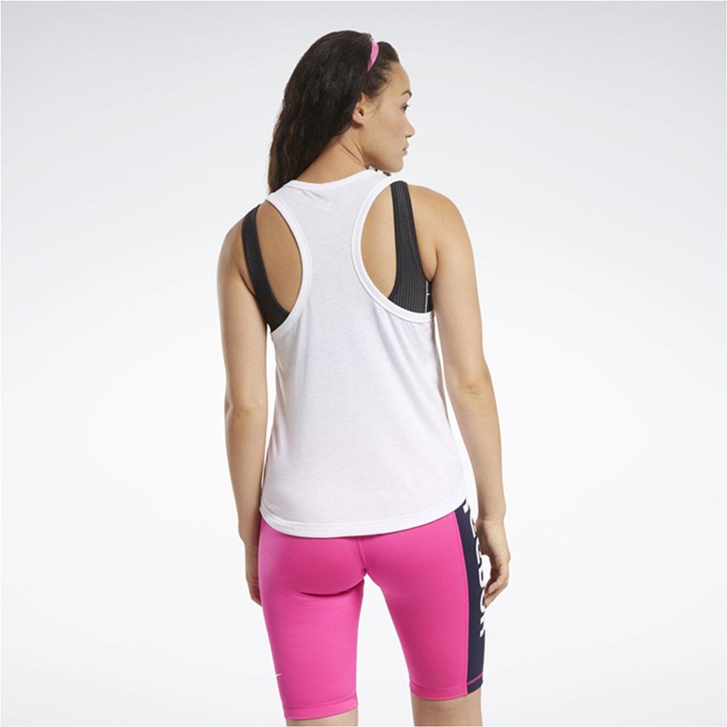 Reebok γυνακεία αθλητική αμάνικη μπλούζα ''ΜΥΤ'' Λευκό 2