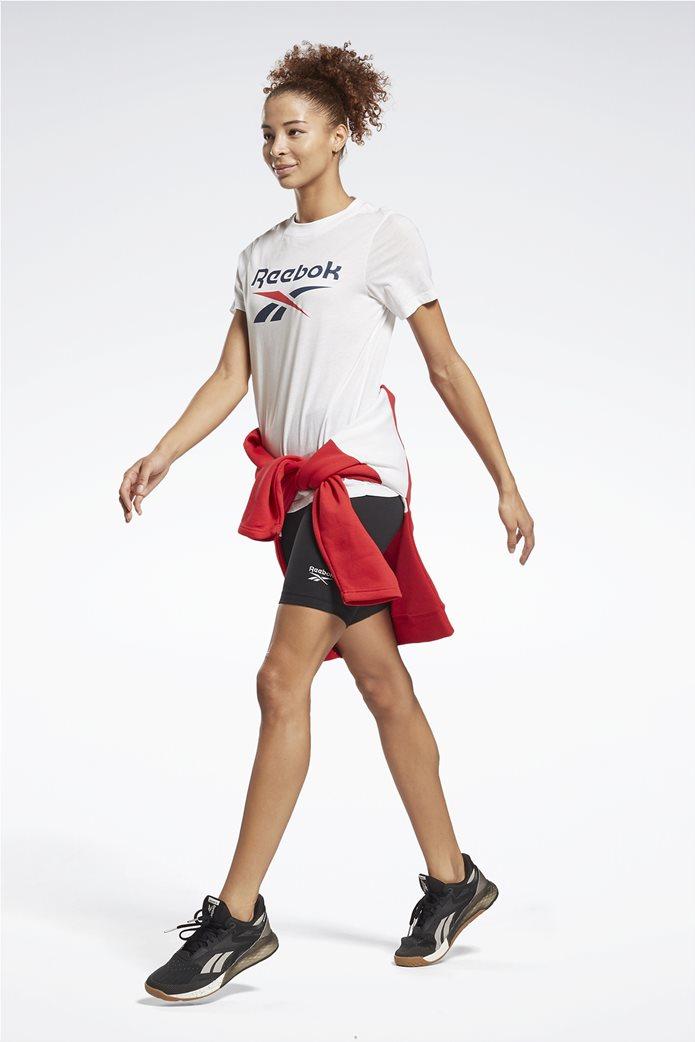 Reebok γυναικείο T-shirt με logo print ''Identity'' Λευκό 1