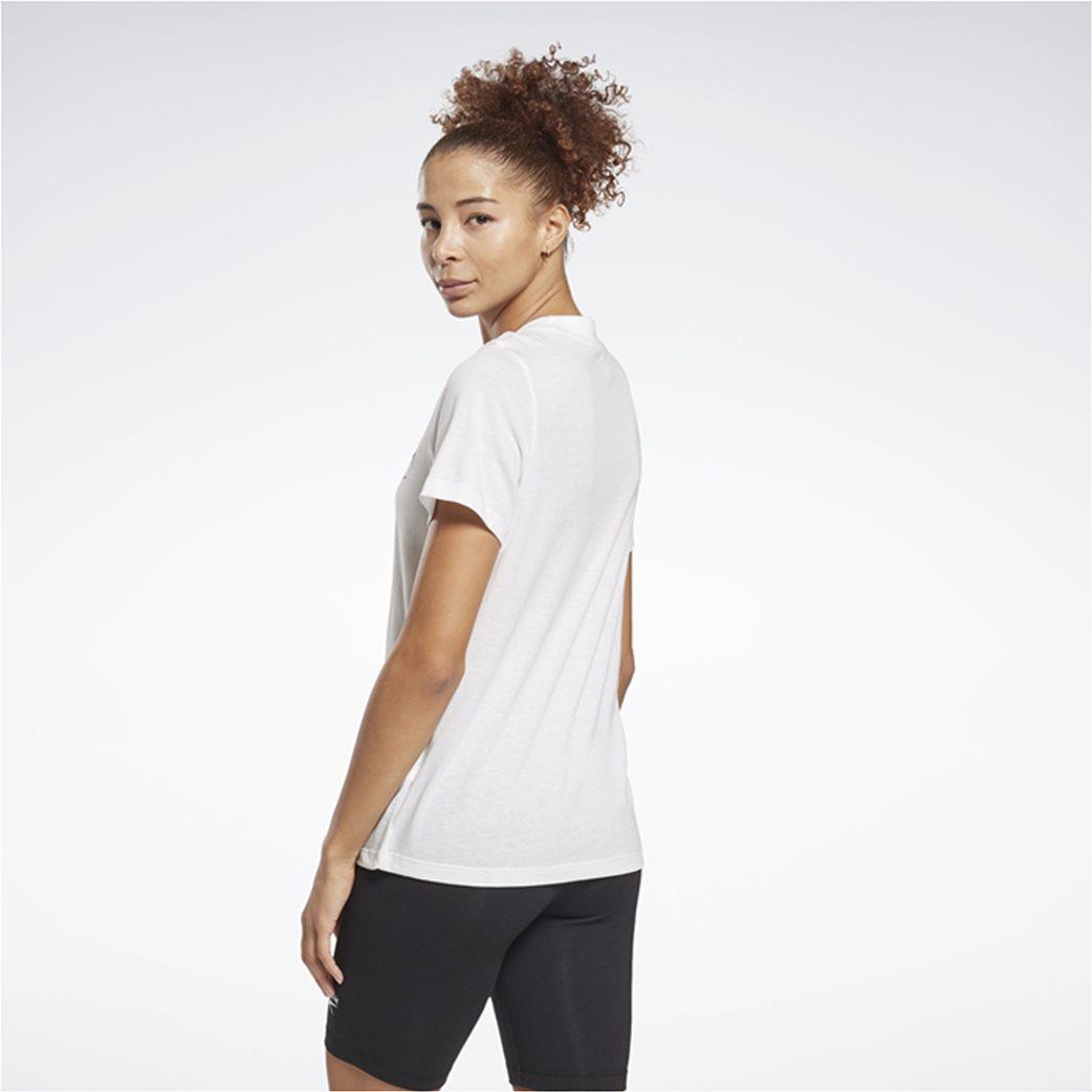 Reebok γυναικείο T-shirt με logo print ''Identity'' Λευκό 2