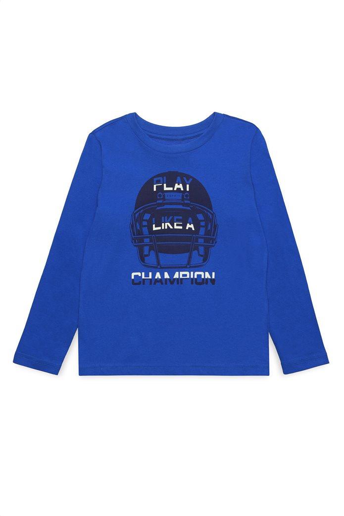 Esprit παιδικό μακρυμάνικο μπλουζάκι με letter print Play Like A Champion 0