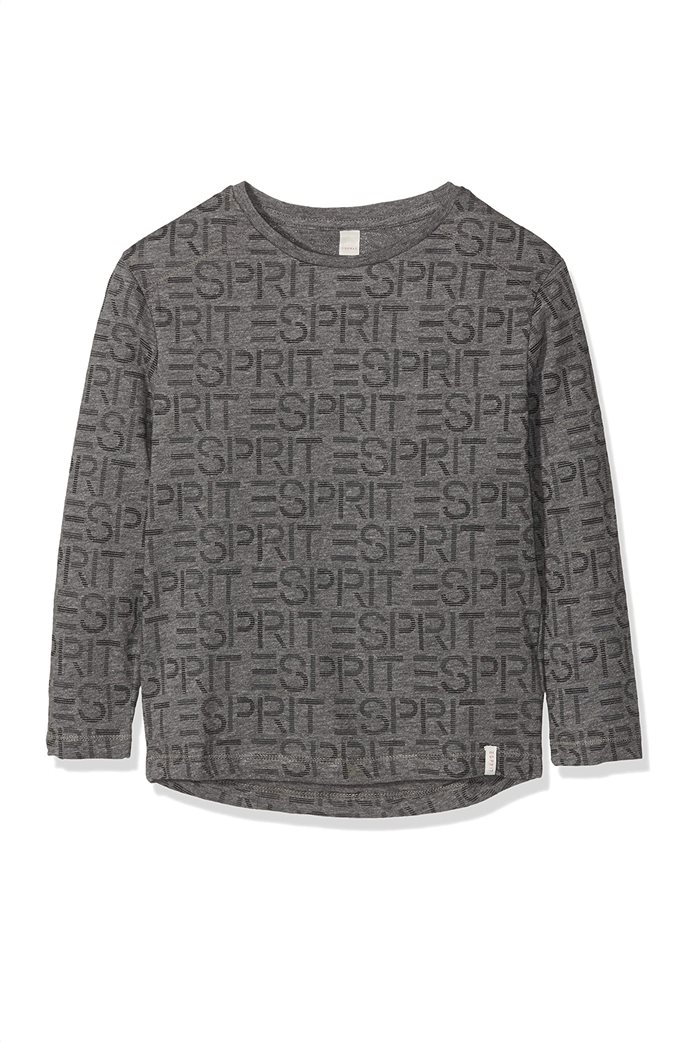Esprit παιδική μπλούζα με all-over logo print (2-9 ετών) Γκρι 0