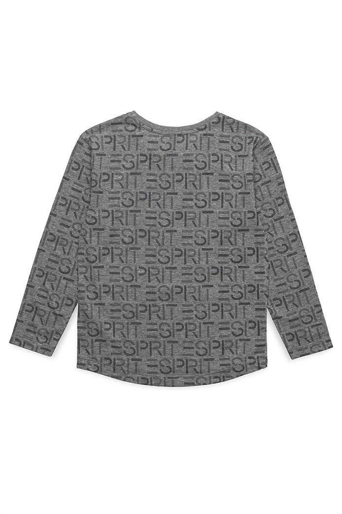 Esprit παιδική μπλούζα με all-over logo print (2-9 ετών) Γκρι 1