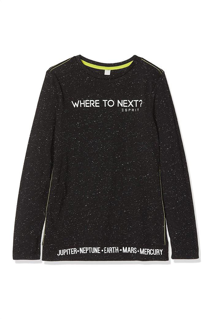 Esprit παιδική μπλούζα με lettering (2-9 ετών) 0