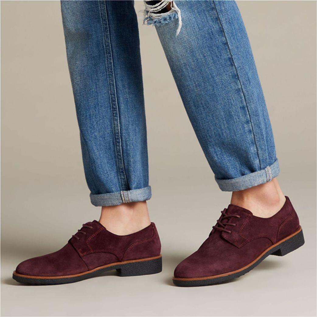 "Clarks γυναικεία παπούτσια suede Oxford ""Griffin Lane"" 1"
