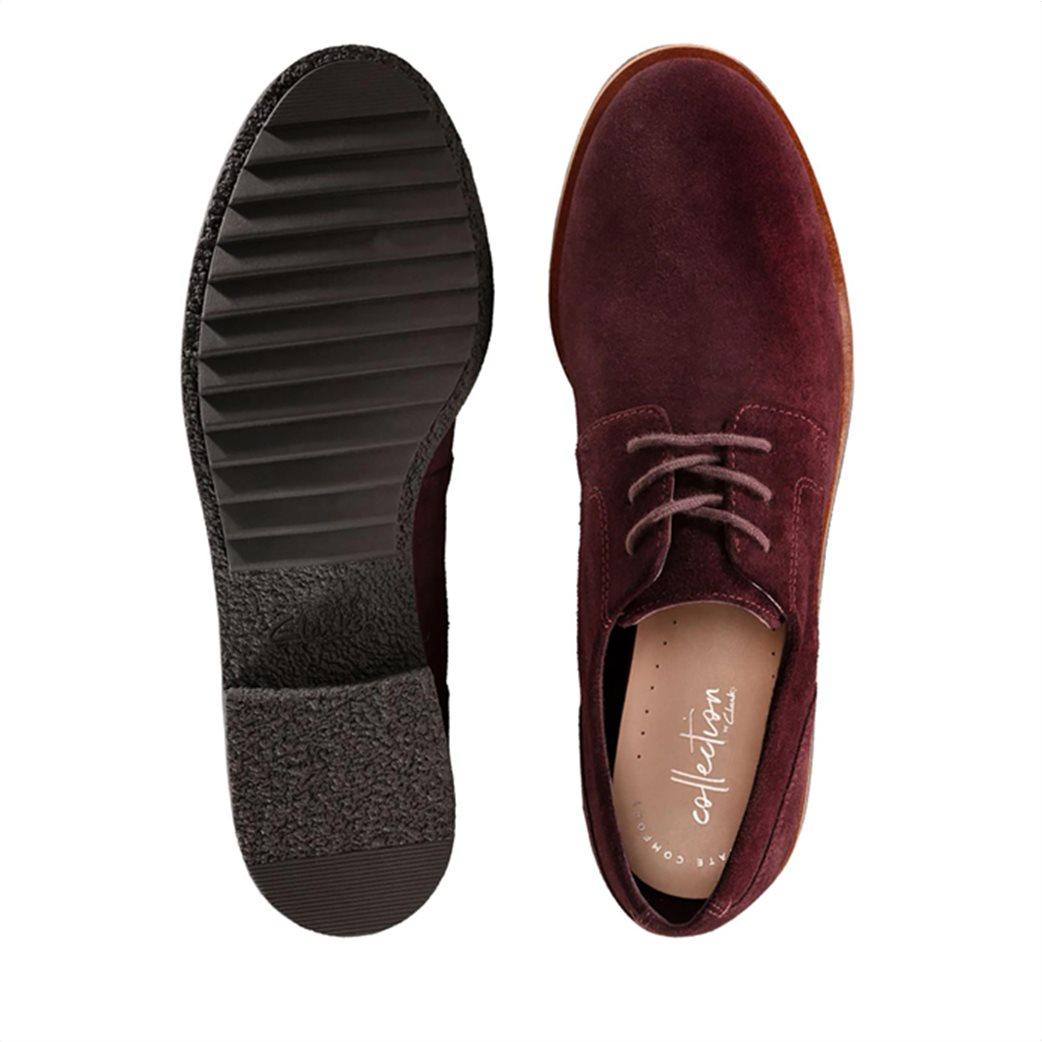 "Clarks γυναικεία παπούτσια suede Oxford ""Griffin Lane"" 4"