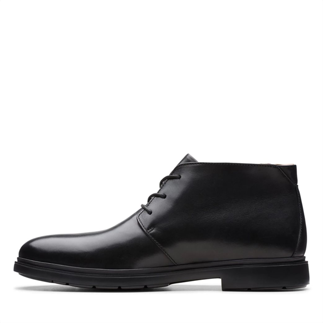 "Clarks ανδρικά δερμάτινα μποτάκια με κορδόνια ""Un Tailor Mid"" 2"