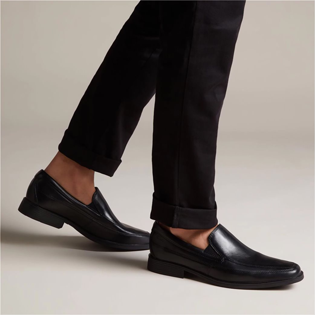 """Clarks ανδρικά δερμάτινα loafers """"Tilden Free"""" 1"""